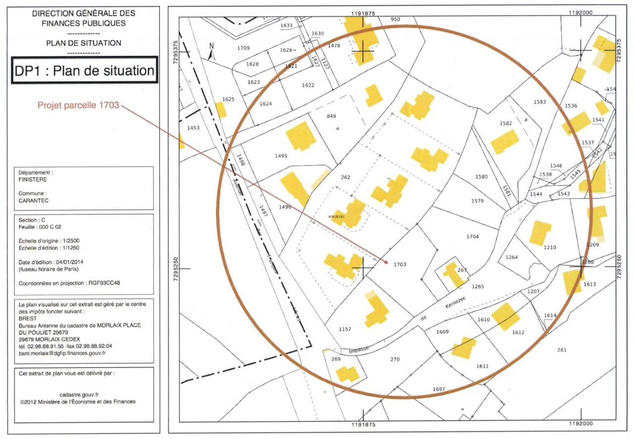 Urbanisme mairie de perrignier for Plan situation permis