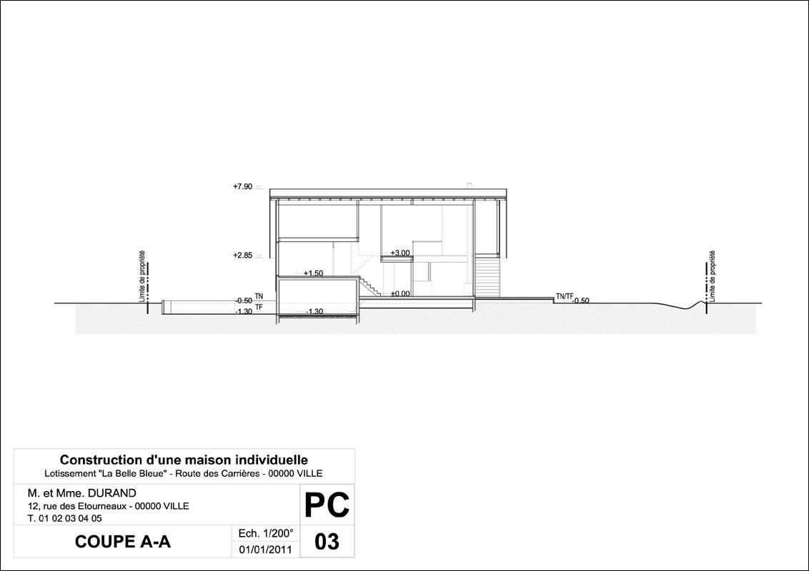 Urbanisme mairie de perrignier - Plan de coupe maison ...
